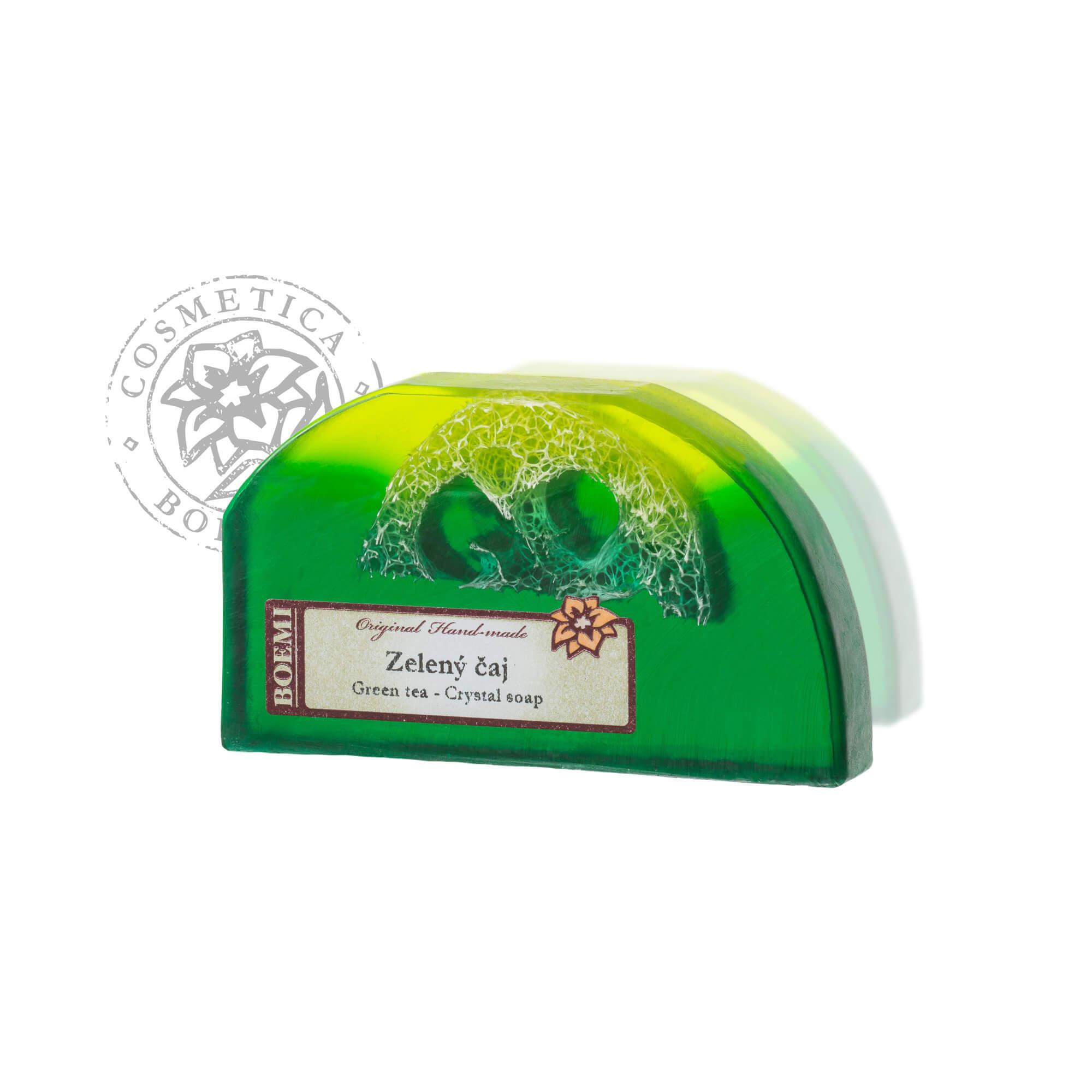 Mýdlo křišťálové s lufou Zelený čaj 100g