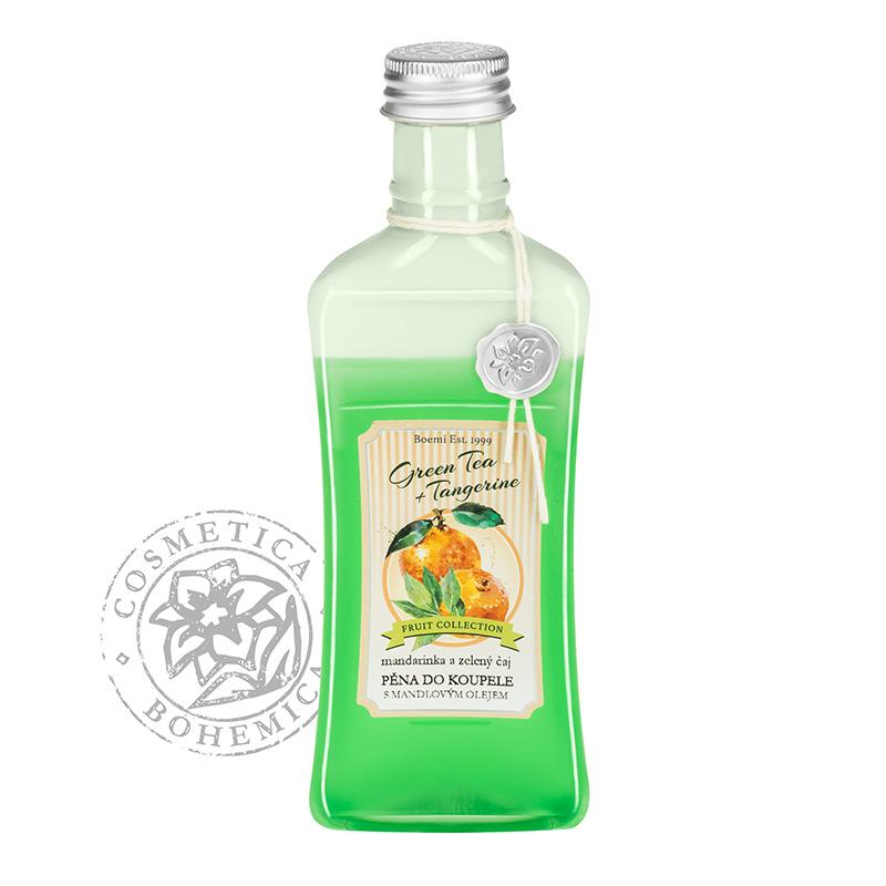 Koupelová pěna s mandlovým olejem Mandarinka a zel. čaj 250ml
