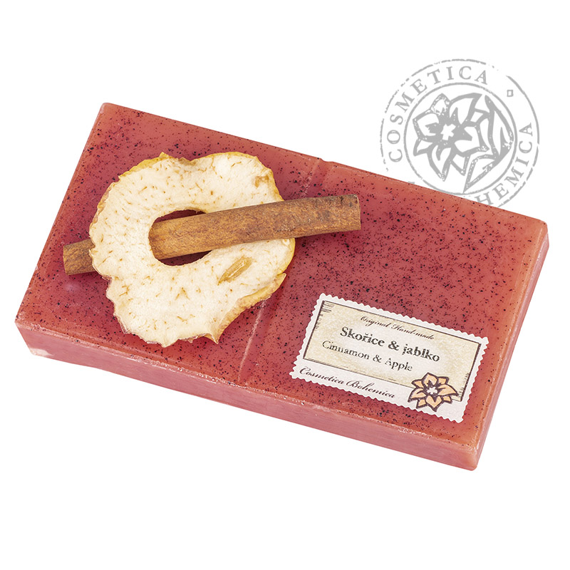 Mýdlo zdobené 200g – Skořice a jablko